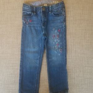 Baby Gap Heart Embroidered Skinny Jeans